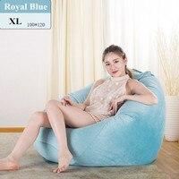 Soft Velvet Bean Bag Cover No Filler Home Living Room Beanbag Sofa Bedroom Lazy Casual Sofa Bed Puff Pouf Bean Bag Chair