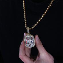 Najlepiej sprzedający się duch dziecko wisiorek AAA cyrkonia pełne cyrkon złoty osobowości naszyjnik biżuteria tanie tanio Moda Wisiorki Unisex Miedzi slide TRENDY SKU0014 Nastrój tracker Wszystko kompatybilny karopel geometric