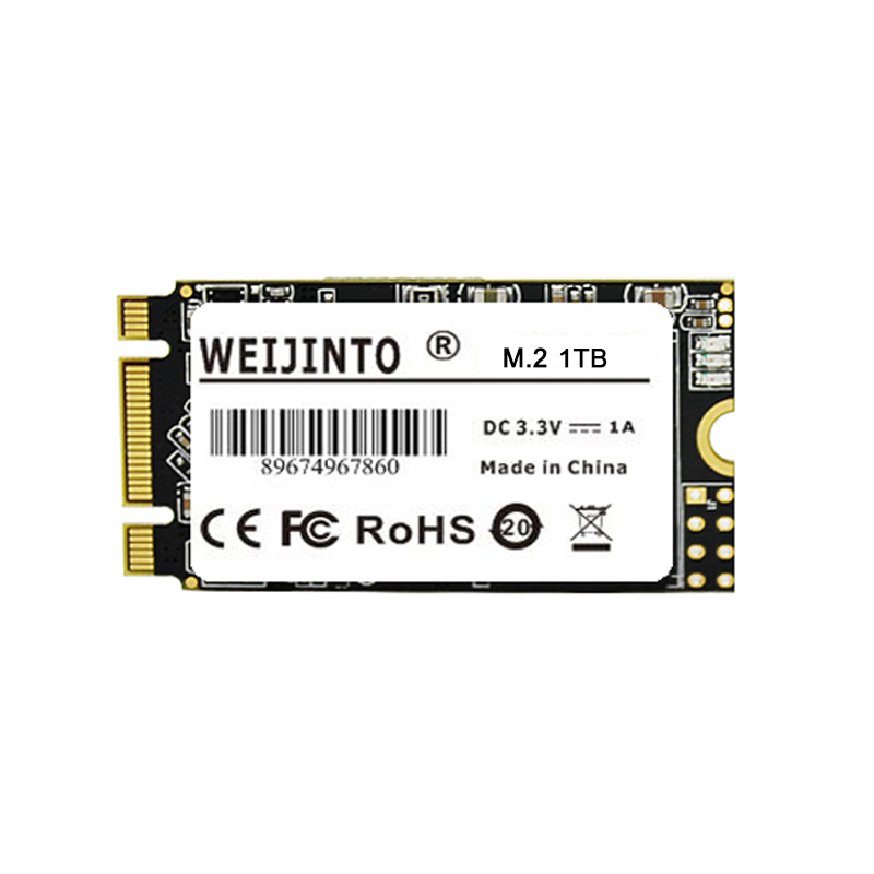 WEIJINTO m.2 SSD 2242 128GB 256gb 512gb 120GB 240GB 1TB HDD 2242mm NGFF SSD 360GB M2 Hard Drive for laptop