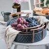 Scandinavian Metal Storage Basket with Handles Iron Vintage Elegant Luxury Desk Storage Organizer Decor Fruit Basket for Home 1