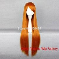 Mcoser косплей eva аска аниме мода длинные прямые orange red женская лолита синтетический волос партии парик