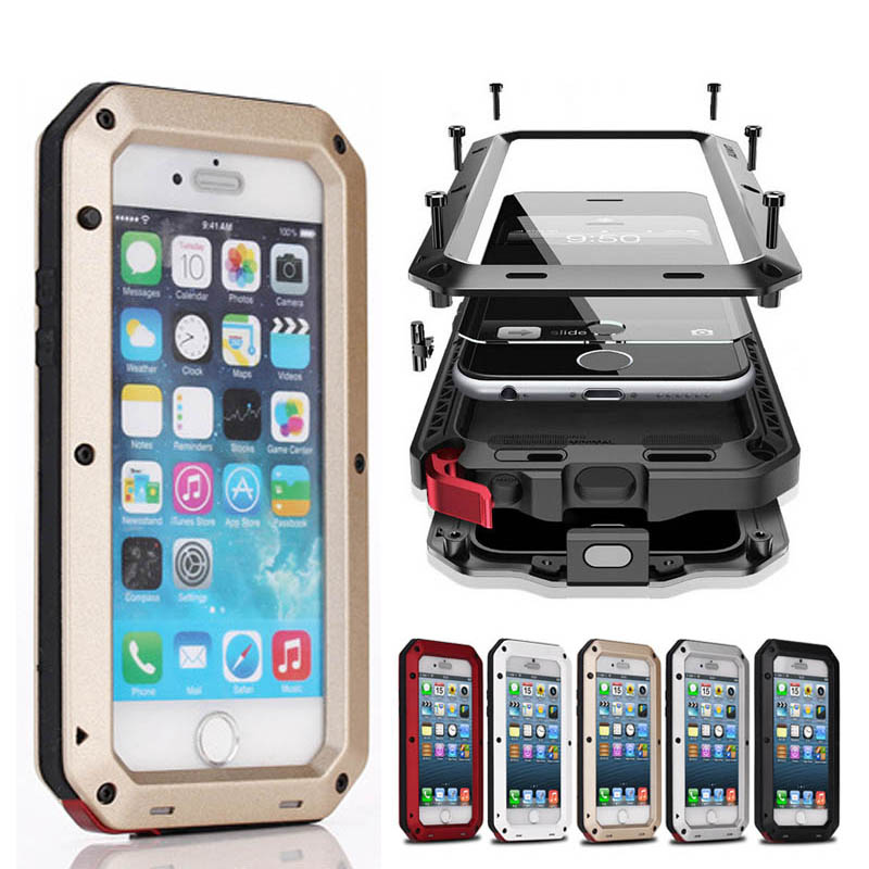Luxury Dirt Shockproof Waterproof Case Heavy Duty Armor Aluminum Metal Cover for iphone 6 Plus 6S