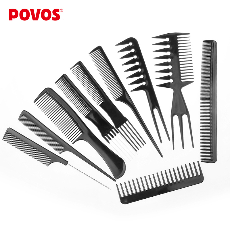 discount hair styling tools buy black comb from china black comb 5667 | POVOS 10pcs set Professional Salon font b Combs b font Set font b Black b font