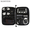MANFITER 2017 New Electronic Accessories Bag Nylon Mens Travel Organizer For Date Line SD Card USB Cable Digital Device Bag