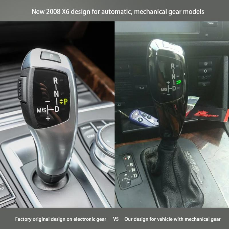 LED Automatic Gear Shift Knob Shifter Lever for BMW E46 E60 E61 Automatic Gear Car & Truck Parts Auto Parts and Vehicles