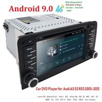 Car Multimedia player Android 9.0 GPS 2 Din Autoradio Stereo System For Audi/A3/S3 Quad Core 4G 2G RAM wifi Car DVD Player USB