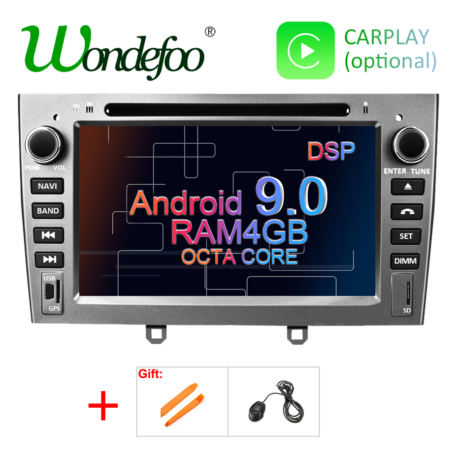 DSP 4G Android 9 0 2 DIN Car DVD Player for Peugeot 408 308 308SW GPS
