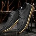 Zapatos de cuero genuino Oxford zapatos para hombres pisos nuevos 2017 hombres de La Manera zapatos Mocasines Zapatos Hombre Sapatos masculinos Sociales EPP095