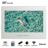 Souria 55 дюймов Водонепроницаемый сауны светодиодный ТВ Smart IP66 настенный Ванная комната большой дисплей экран (волшебное зеркало/черный Цвет)