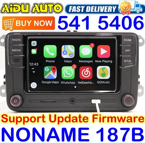 <font><b>Noname</b></font> Carplay <font><b>RCD330</b></font> RCD330G Plus 6.5 MIB Radio For VW Golf 5 6 Jetta CC Tiguan Passat Polo Touran 187B RCD510 RCN210 5406 5314 image