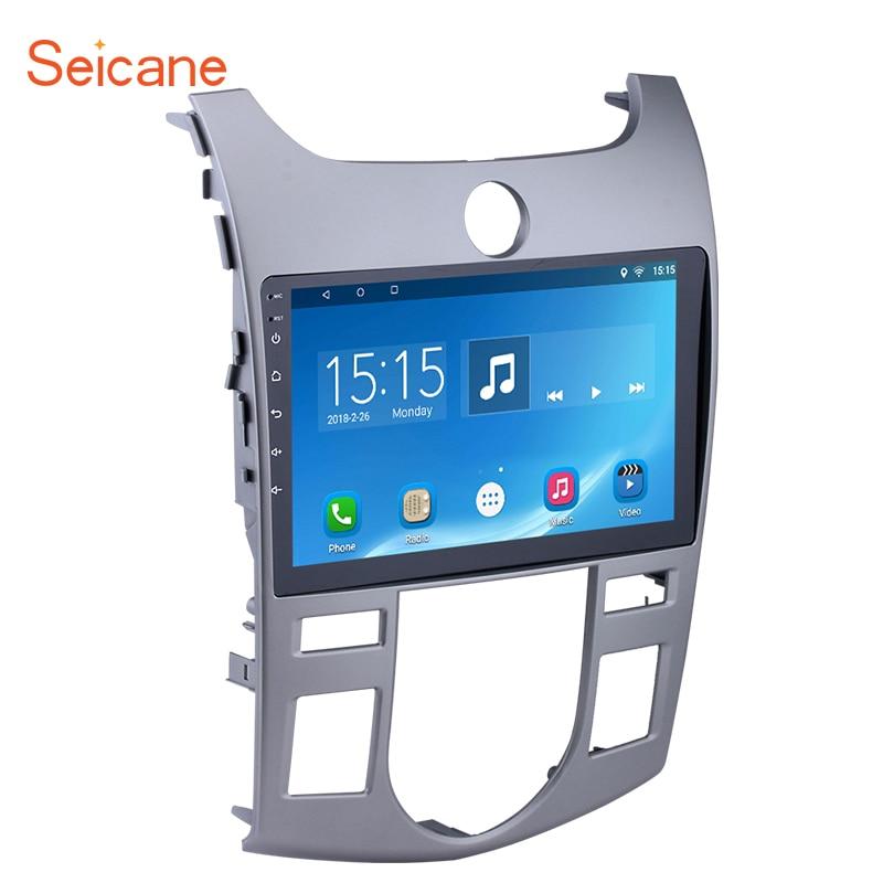 Seicane 9 pouce Quad-Core Android 7.1/6.0 Voiture Radio Stéréo Lecteur GPS Navi pour 2008 2009- 2012 KIA Forte (À) avec HD 1024*600