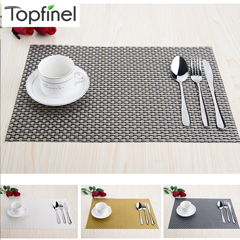 Top Finel Set Of 8 Pvc Decorative Weave Vinyl Placemats For Dining Table Linen Place Mat In Kitchen Cup Wine Coaster Pad Mats Pads From Home
