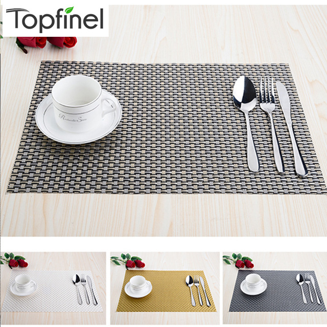 Top Finel Set Of 8 PVC Decorative Weave Vinyl Placemats For Dining Table  Linen Place Mat
