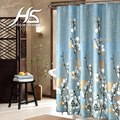 House Scenery Shower Curtains Floral With Hooks Bathroom Accessories Bath Curtain 100% Polyester Flower Waterproof Mould Proof