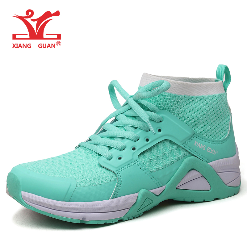 XIANG GUAN Running Shoes Women Breathable Lightweight Height Increasing Outdoor Sports Sock Sneakers For Women xiang guan breathable leather athletic sneakers man woman trainer sport shoe height increasing running shoes for women 3377
