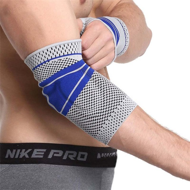 1f59be4d52 Neoprene Elbow Support Magnetic Tourmaline Heated Elbow Pad Compression Tennis  Elbow Brace Sleeve