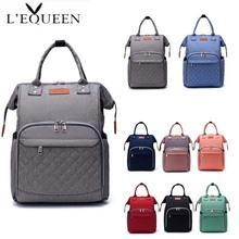 LEQUEEN Mommy Maternity Diaper Bag Large Capacity Travel Backpack Baby Care Lady Fashion