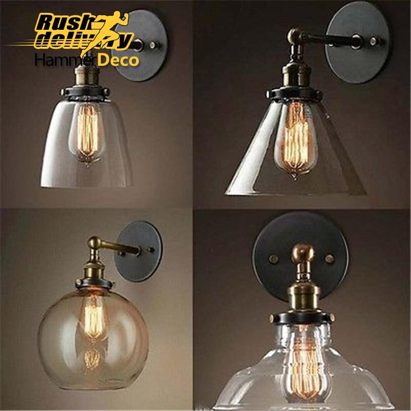Retro Vintage W Lights Clear Glass Lampshade Loft Pendant Lamps E27 110V 220V for Dinning Room Home Decoration Lighting цена и фото