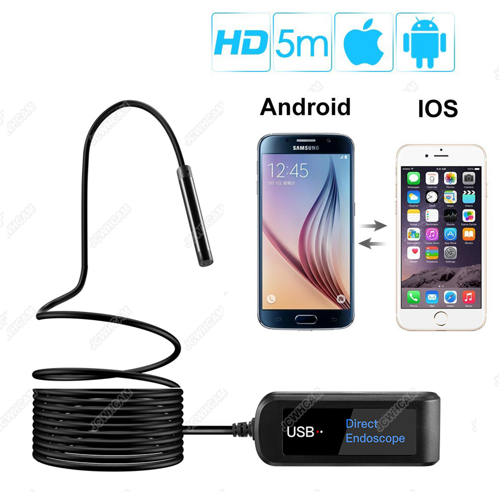 7MM Lens USB Endoscope Upgrade USB Direct Endoscope For all Android iPhone Phones,Tablets,Macbook,Multifunction Borescope Camera wifi 4 9mm lens ear nose medical usb endoscope borescope inspection otoscope camera for ios android pc