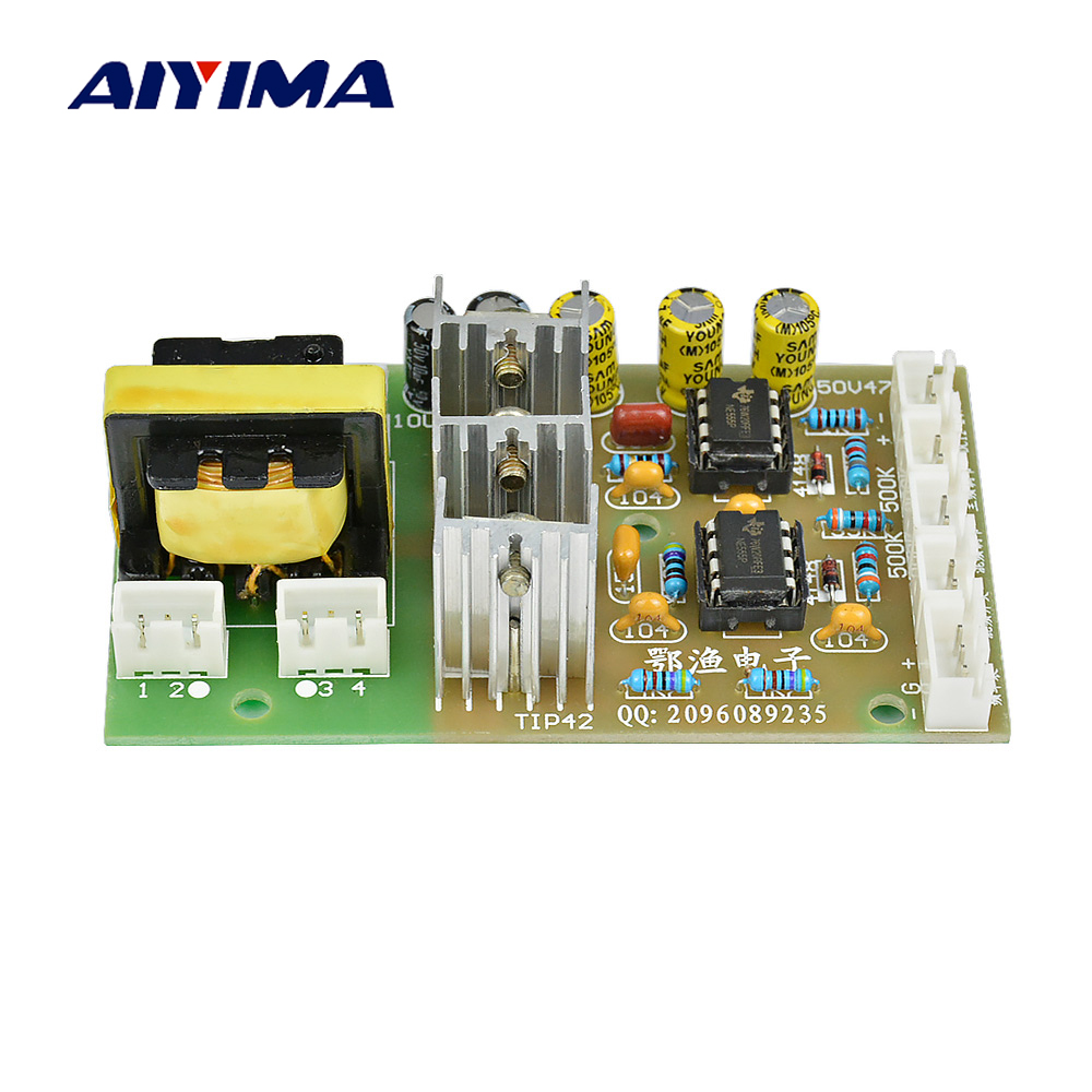 купить Aiyima High-power Inverter Rear Driver Board Single Double Four Silicon Mixer Driver Board DC12 24V по цене 835.01 рублей