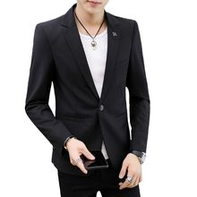 Black White Red Blazer Mens Slim Fit Blazer Slim Masculino Business Casual Mens Stylish Blazer Spring Autumn Red Blazers Men 4XL(China)