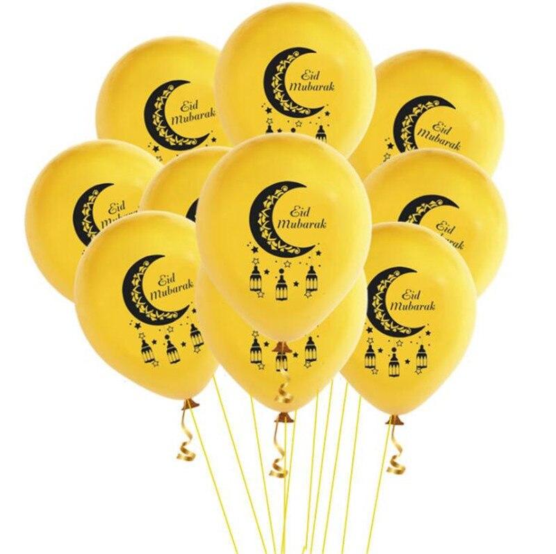 Home Islam Ramadan Table Cover Eid Mubarak Balloons Happy Ramadan Table Cloth and Eid Mubarak Banner Party Decorations