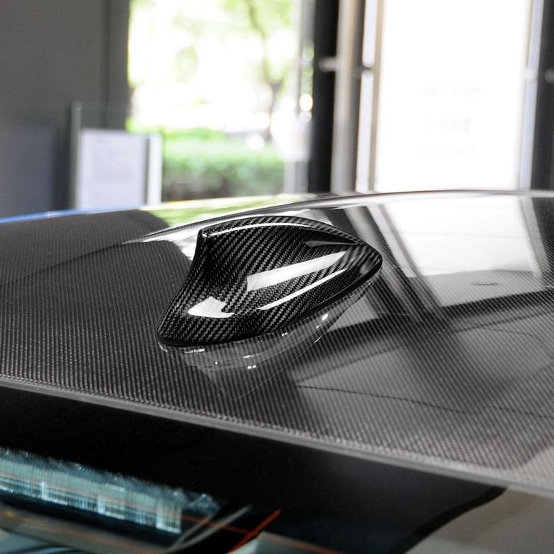 Carbon Fiber Car Roof Shark Fin Antenna Cover Trim For BMW E46 E90 E92 F20 F30