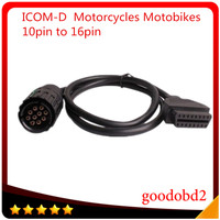 車の診断ツールI-COM a b c icom dケーブル用オートバイmotobikes 10pinへ16pin obd2 obdii診断a2ケーブル