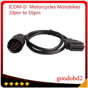 Car diagnostic tool I-COM  A B C  ICOM D Cable for ICOM-D  Motorcycles Motobikes 10Pin To 16Pin OBD2 OBDII Diagnostic A2 Cable 2018 for bmw car and motorcycle diagnostic tool for bmw icom a2 b c d without software 4in1 best quality