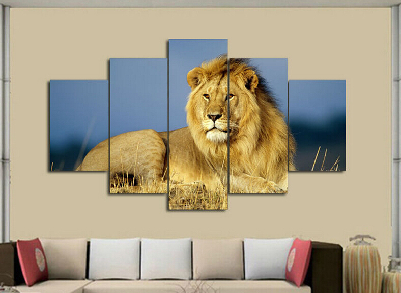Aliexpress.com : Buy Animals Lion Painting modern art living room ...
