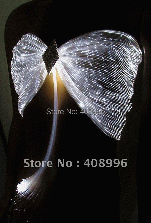 Сексуальный светящийся бюстгальтер из оптического волокна для клубных выступлений/модное шоу/Одежда для шоу/01