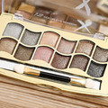 Professional Eye Makeup 12 Colors Eyeshadow Palette Gold Smoky Cosmetics Makeup Palette Diamond Bright Glitter Eye Shadow