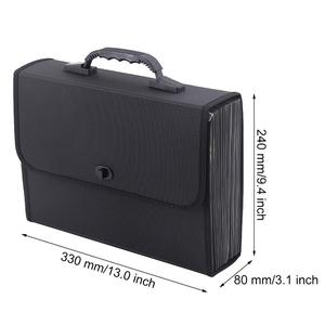 Image 5 - MyLifeUNIT 26 جيوب مجلد متسع لحفظ الملفات منظم حقيبة مقاوم للماء صندوق تخزين الأعمال مع مقبض مكتب التموين