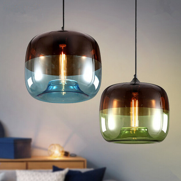 Lamparas Northern Personality Restaurant Glass Pendant Lights Simple Bar Clothing Cafe Decoration Lamps Free Shipping northern europe simple restaurant bar art pendant lamp personality creative shadow led glass pendant light free shipping