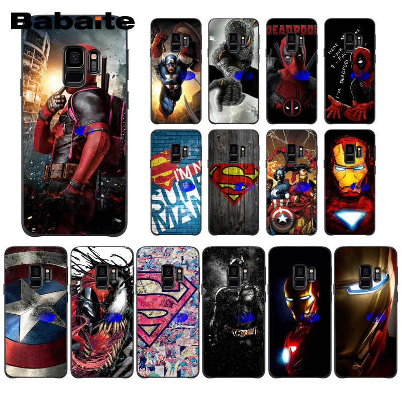 Babaite Marvel Avengers Superhero Deadpool Spiderman Batman PhoneCase for Samsung Galaxy S9 plus S7 edge S6 edge plus S5 S8 plus