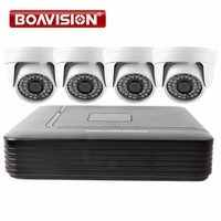 4CH CCTV AHD DVR System 1080N HDMI DVR 4PCS 720P 1200TVL IR Dome AHD Camera Home