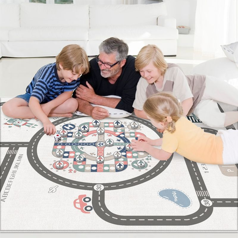 Salon maison imperméable et résistant à la saleté tapis ramper bébé tapis de sol bébé enfant tapis d'escalade tapis de jeu d'échecs volant