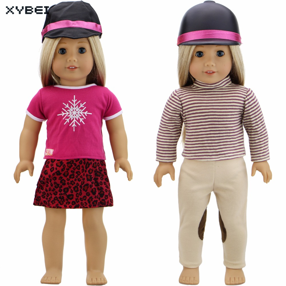 Handmade Outfit Party Daily Wear Shirt Dress Pants Trousers Cap Clothes For American Girl Doll 18 Puppet Gifts DIY Accessories handmade casual wear outfit jacket coat gray vest pants khaki trousers clothes for american girl doll 18 accessories toys gift
