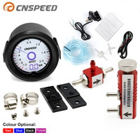 2 inch / 52mm Turbo Boost Gauge Liquid Crystal 7 Color Virtual Pointer Display Turbo Table Bar with Adjustable Controller Kit