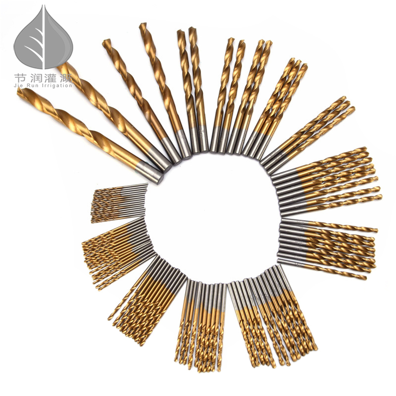 99pcs/Set Twist Drill Bit Set Saw Set HSS High Steel Titanium Coated Drill Woodworkin Tool 1.5-10mm For Cordless Screwdriver new 50mm concrete cement wall hole saw set with drill bit 200mm rod wrench for power tool