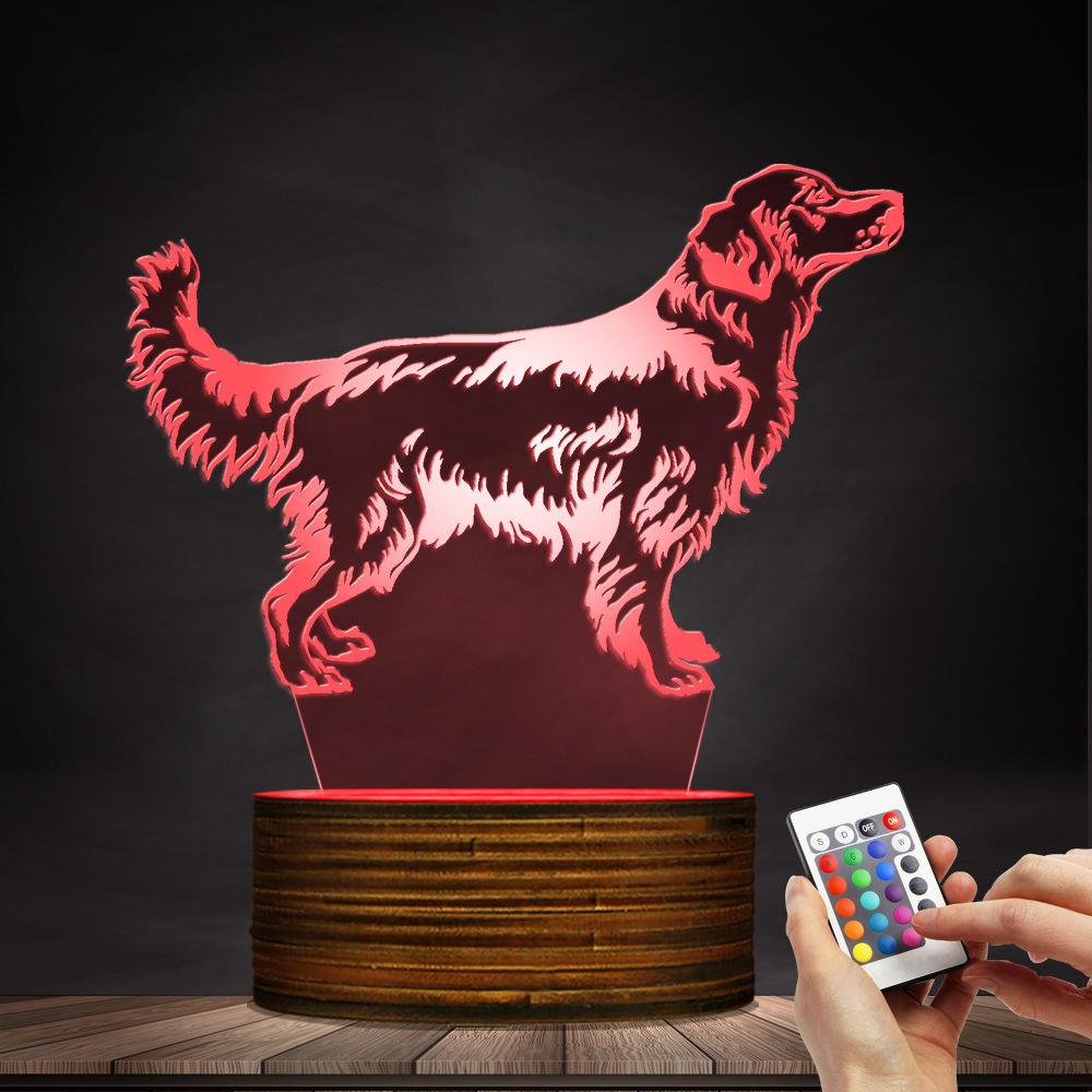 1Piece 3D Golden Retriever Dog LED Night Light Customiz Name Pet Desk Lamp Decorative Lighting Puppy Sleepy Light Dog Lover Gift фильтры для пылесосов filtero filtero fth 32 mie hepa фильтр для пылесосов miele page 6
