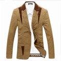 3 cores Blazer masculino moda 2016 slim fit plus size M-5XL 6XL para homens primavera terno
