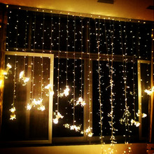 3x2 м 220 v Рождественские огни Светодиодный Шторы светящаяся гирлянда светодиодный украшение Рождественские огни Праздничные рождественские огни
