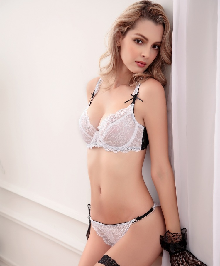 Bra Brief Sets Sexy Lace Summer Ultra Thin Bra Lace Women -7272