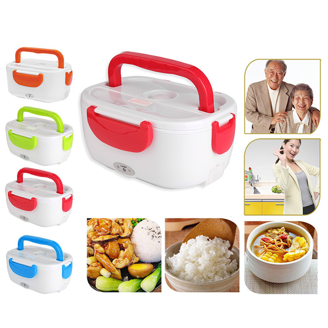 110V-220V Lunch Box Food Container Portable 2019 New Electric Lunch Box Heating Food-Grade Food Warmer For Kids Dinnerware Sets