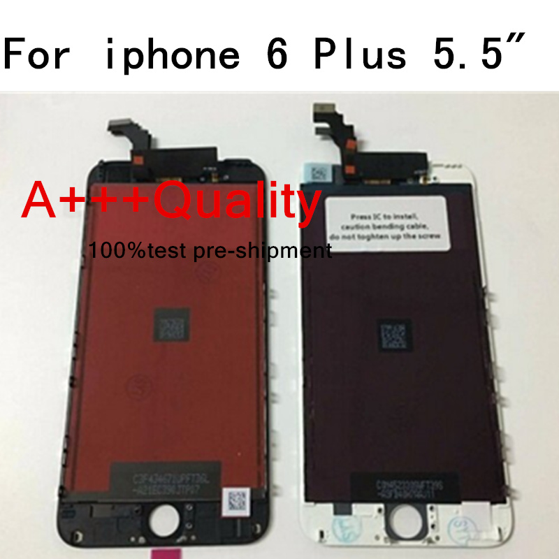 OEM Grade A+++ 1PCS Lcd Digitizer For iPhone 6 Plus LCD Display with Touch Screen Digitizer + Frame Assembly replacement