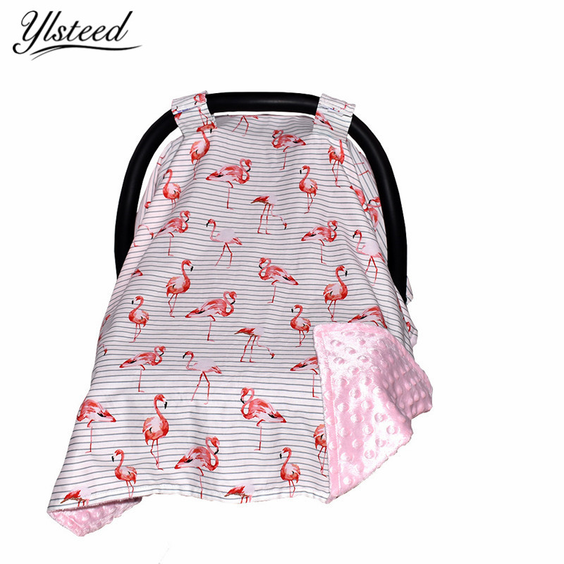 Flamingo Floral Breastfeeding Cover Baby Carseat Canopy Car Covers Infant Safety Seats S ...