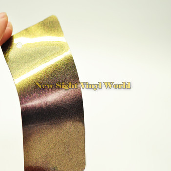 3 Layers Gold Purple Glossy Chameleon Diamond Glitter Vinyl Film Sticker Bubble Free For Car Size:1.52*20M(5ft X 65ft)