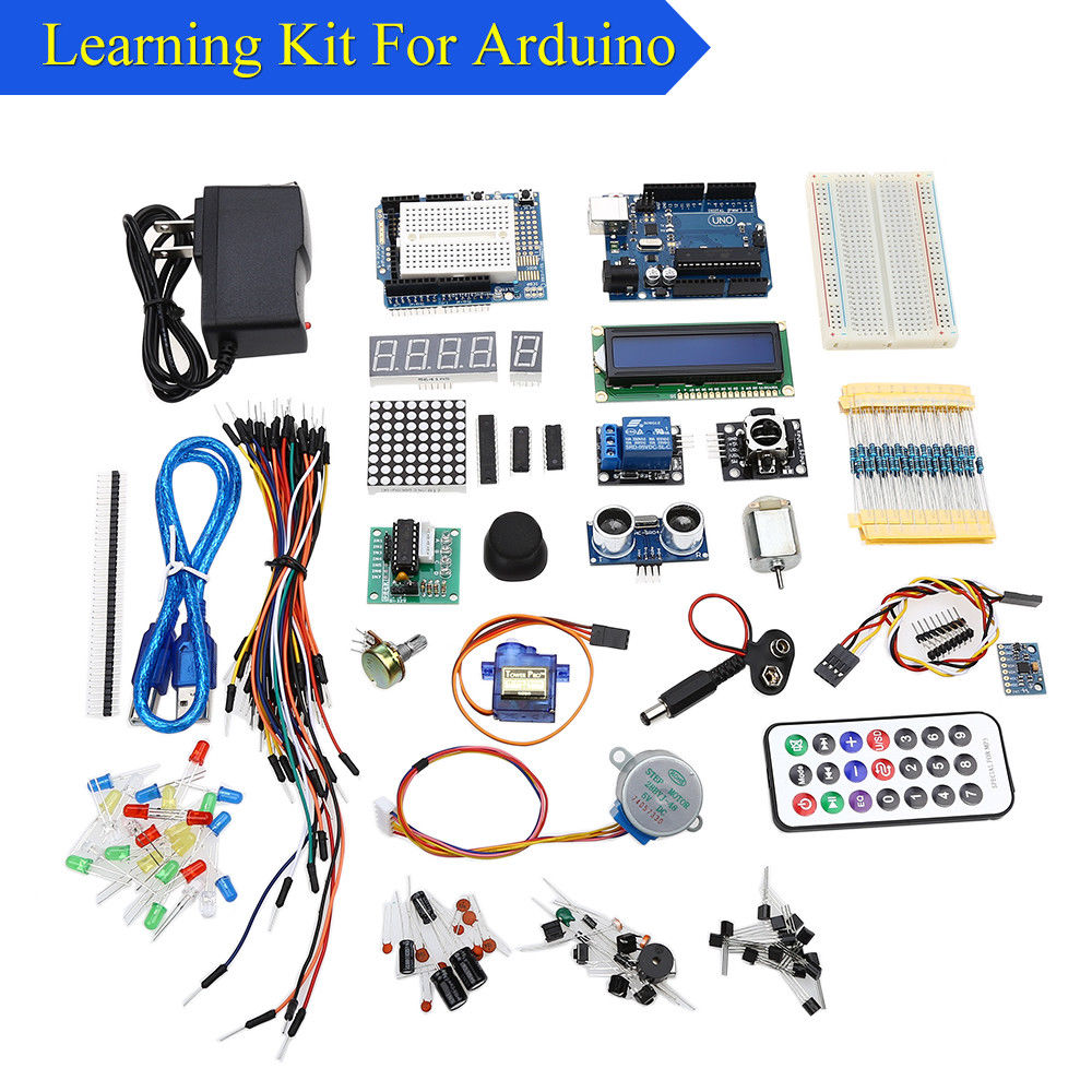 Keyes Learning Kit With a Dedicated Power Supply 9V-1A Durable Portable For Arduino Free Shipping keyes 4wd dc power supply motor driver module works with arduino board