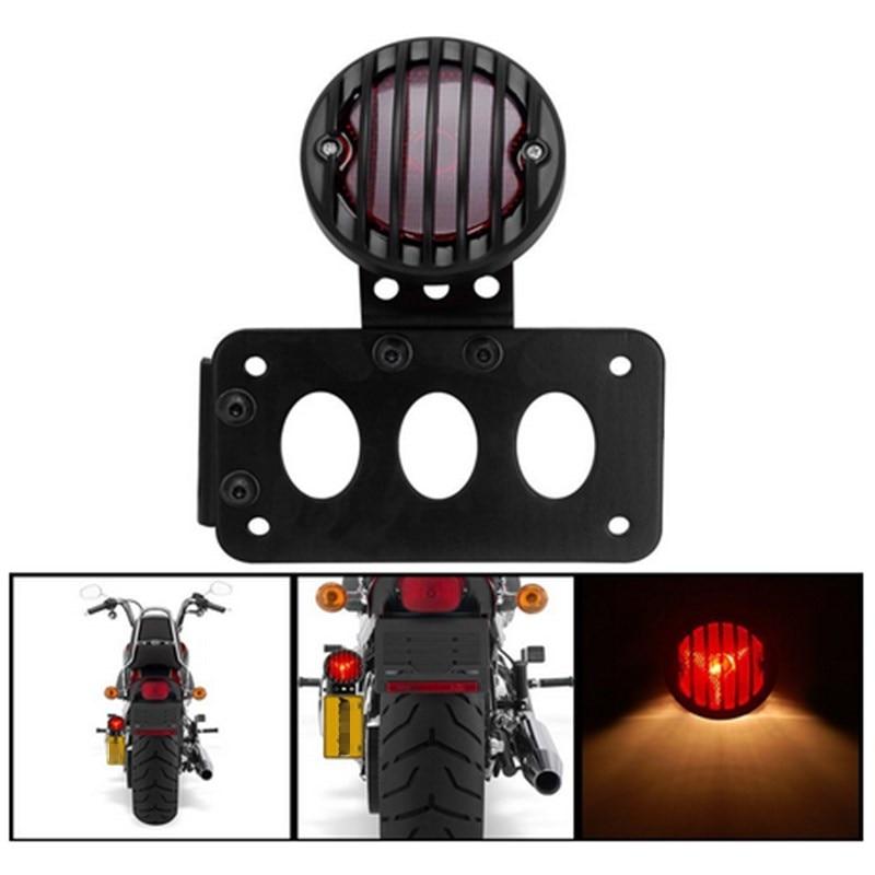 EE support DC12V 10W motorcycle accessories motos motorbike refit black shell brake font b lights b